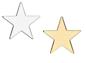 Large Gold or Silver Coloured Star Metal Lapel Pin Badge Class Prize Star 25mm
