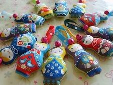 My Babylicious Babuska... handmade stuffed fabric Christmas Tree Decoration...