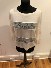 Womens Maxmara Wool And Lace Jumper Size M