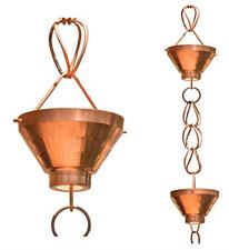 Monarch Pure Copper Siam Rain Chain, 8-1/2 Feet Length