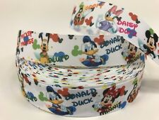 """By The Yard 1"""" Disney Characters With Name Grosgrain Ribbon Scrapbooking Lisa"""
