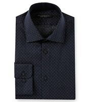 John Varvatos Star USA Mens Long Sleeve Tic Weave Dress Shirt Regular Fit Indigo