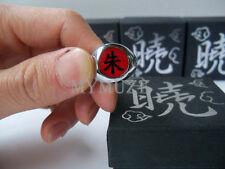 """Naruto Uchiha Itachi Cosplay Ring Akatsuki Red """"Shu"""" Box Packed One Size"""