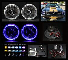 "Headlights w Hid 4.3K 6K 8K 10K H6012 H6015 H6024 H6017 7"" Blue Halo Diamond"