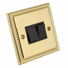 Georgian Brass 2-Gang Home Electrical Switches