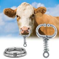 Kuh Nasenring Stahl 2 Größen Nutztier Rinder Piler Veterinär