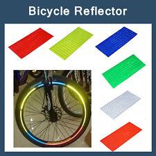 Bike Riding Bicycle Cycling Wheel Spoke Reflector Reflective Mount Sticker 8PCS