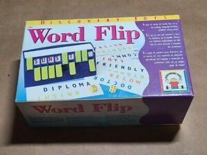 Word Flip Game Discovery Toys -Dice Rolling, Critical Thinking, Word Solving 8+