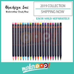 CLEARANCE Akashiya Sai Japanese Watercolor Pens Markers (Single Pen)