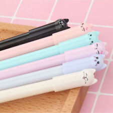 6PCS Korean Style Cute Cat Expression Pen Gel Pens Black Ink Pens Stationery