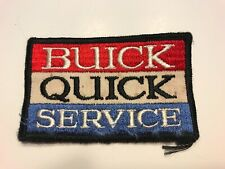 """VINTAGE ORIGINAL 50/60'S EMBROIDERED BUICK QUICK SERVICE JACKET PATCH 4"""" X 2.5"""""""