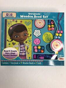 Disney Doc McStuffins Storybook and Wooden Bead Set Art Activity NEW