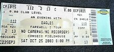 An evening w/ the Eagles Concert Ticket Farewell I Tour Indianapolis 10/25/2003
