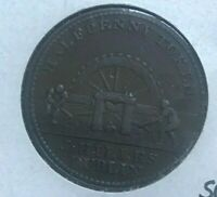 1813 Ireland 1/2 Half Penny Token - James Hilles - Galata #1820