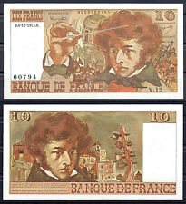 BILLET 10 Francs RARE Berlioz. Date 6/12/1973. Série V12, N°00794. Neuf.