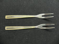 Edelstahl Germany Rostfrei Stainless 18/10 Princess Gold (2) Pickle Forks