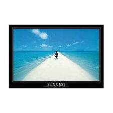 SUCCESS - WALKING ON BEACH INSPIRATIONAL POSTER 24x36 - OCEAN QUOTE 1591
