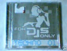 CD FOR DJS ONLY TECHNO 01 SIGILLATO RARISSIMO REXANTHONY SCOOTER PLUMMED