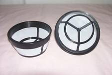 NEW TWO (2) Nylon Mesh 8 to10 cup BASKET SHAPE PERMANENT COFFEE FILTER Reusable