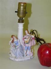 ANTIQUE FIGURAL PORCELAIN BOUDOIR LAMP GERMANY