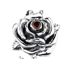 Authentic Ed Hardy Large Rose Petal Pendant with stone stainless steel and chain