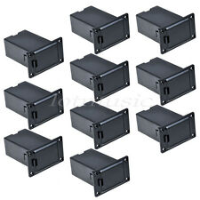 10pcs Guitar Bass Active Pickup 9V Battery Holder/Case/Cover Cover Square Black
