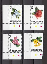 TIMBRE STAMP 4 SINGAPOUR Y&T#361-64 FLEUR FLOWER NEUF**/MNH-MINT 1981 ~B23