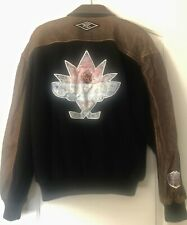 NHL-1998 ALL-STAR GAME (VANCOUVER) LEATHER JACKET (Lg)- NHL LICENSED