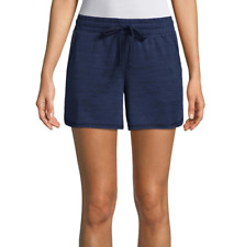 St. John's Bay American Navy Active Knit Pull-On Shorts New Size L, XL, XXL