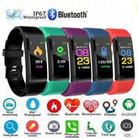 Smartwatch Bluetooth Armband Pulsuhr Stoppuhr Fitness Track Schrittzähler Sport