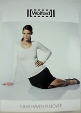 WOLFORD NEW HAVEN PULLOVER 55017 Astral Damen Shirt Bluse Gr.L NEU+KARTON OVP
