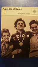 SPORTSCASTER RENCONTRE COLLECTABLE CARD ASPECTS OF SPORT OLYMPIC GAMES CCCP
