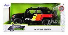 TOYOTA FJ CRUISER CUSTOM W/ROOF RACK BLACK 1/24 DIECAST CAR BY JADA 31595-MJ