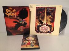 1982 Secret of Nimh Storybook Original Soundtrack LP Vinyl Record DVD Movie Film