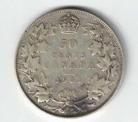CANADA 1931 50 CENTS HALF DOLLAR KING GEORGE V .800 SILVER COIN