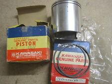 KAWASAKI NOS PISTON & RINGS KX250 1974  +0.50 O/S 13029-069 13025-055