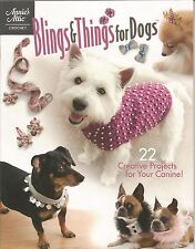 Blings & Things for Dogs Crochet Patterns Clothing Hats Collars Annies Attic NEW