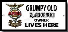Grumpy Old Antena Cuadrado Four Marca II Señal de metal Owner Lives Here