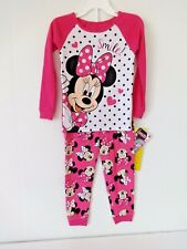TODDLER GIRLS DISNEY MINNIE MOUSE LONG SLEEVED PAJAMAS SIZE 3T