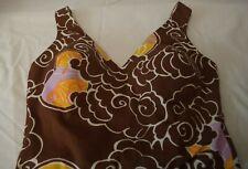 Vtg Roxanne Perfection Fit Bathing Suit Swimsuit Oriental Clouds Sun 16/38 Cup B