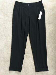 KENNETH COLE STRAIGHT CUT CROP CIGARETTE TROUSERS SIZE 8 BNWT