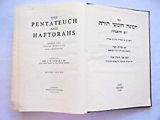 Pentateuch and Haftorahs Hebrew Text English Translation & Commentary 1960