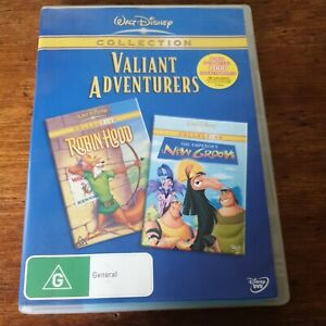 Robin Hood/ The Emperor's New Groove DVD R4 Like New! FREE POST