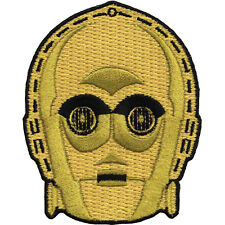 Star Wars Official C-3PO Head Logo Force Awakens Lucasfilm Iron On Patch