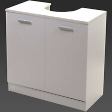 Marko Bathroom High Gloss White Under Sink Cabinet Basin Cupboard Storage Double