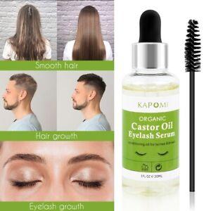 Eyelashes Eyebrow Hair Growth Essential Oil Thick Longer Nourishing Enhancer new