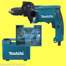 Makita perceuse à percussion hp1631kx3 malette +Set d'accessoires 74 pièces