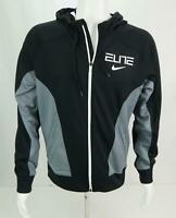 Nike Men's Elite Zip Up Hooded Jacket Black & Gray S
