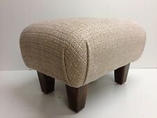 FOOTSTOOL  IN  A LAURA ASHLEY  ETIENNE ROSE WOVEN  CHENILLE FABRIC