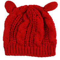 Women Mens Winter Warm Knit Crochet Beret Ski Slouchy Skull Cap Ski Beanie Hat D
